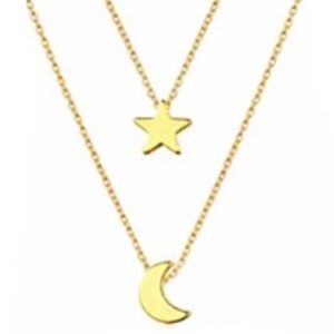Jewelry - MultiLayer star and moon necklace